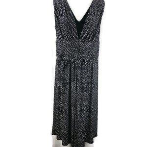 Studio 1940 Jersey Knit Dress Sleeveless V Neck